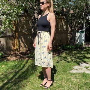 Pink Martini Bird Print Chiffon Skirt Size S